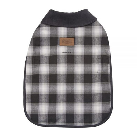 Pendleton® Pet Dog Coat Charcoal Ombre Plaid