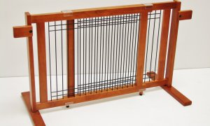 21 inch Freestanding Pet Gate with Security Arms