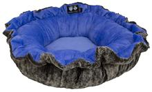 Lily Pod Dog Bed- Koala and Periwinkle