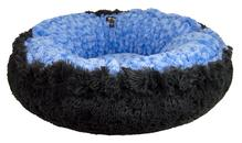 Bagelette Dog Bed - Blue Sky and Wolfhound Grey