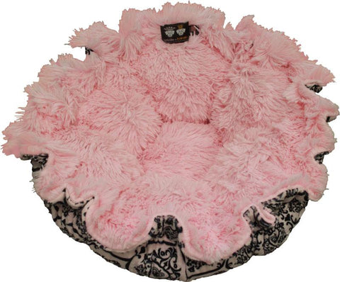 Cuddle Pod Dog Bed - Bubble gum and Versailles Pink