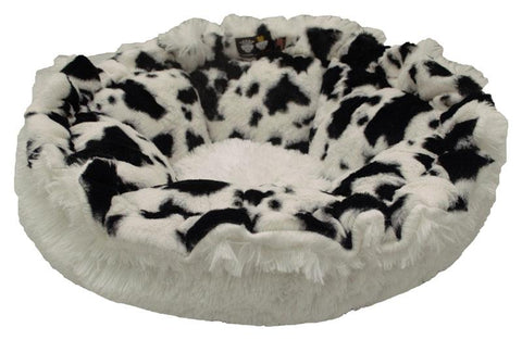 Cuddle Pod Dog Bed - Spotted Pony and Snow White