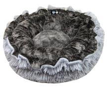 Lily Pod Dog Bed- Koala and Siberian Grey