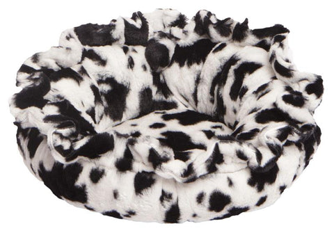 Lily Pod Dog Bed - Black Puma and Spotted Pony