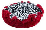 Lily Pod Dog Bed- Lipstick and Zebra