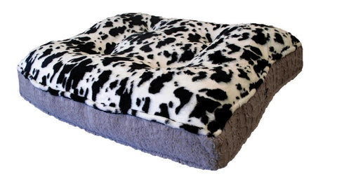 Sicilian Rectangle Dog Bed-Spotted Pony and Serenity Grey
