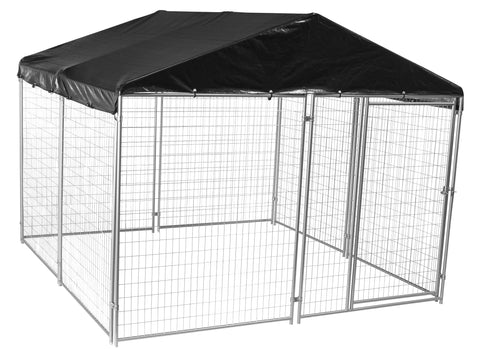 Lucky Dog™ 10'W x 10'L x 6'H Modular Box Kennel w/Cover