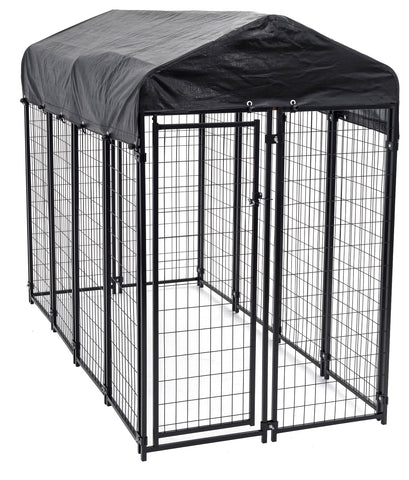 Uptown Welded Wire Kennel With Cover