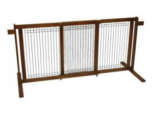 Tall Freestanding Pet Gate with Security Arms