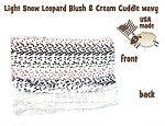 Light Snow Leopard Blanket