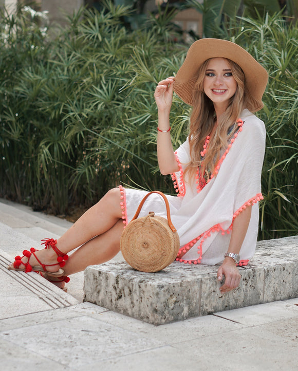 Coral Cutesy Cover Up