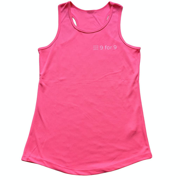 9 for 9 Women's Racerback Sports Tank - 9 for 9