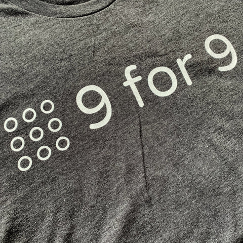 9 for 9 Unisex Tee (Heather Charcoal)
