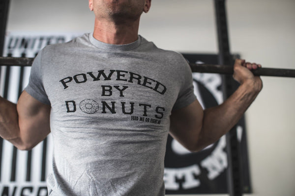"Feed Me Fight Me Men's ""Powered by Donuts"" T-shirt"