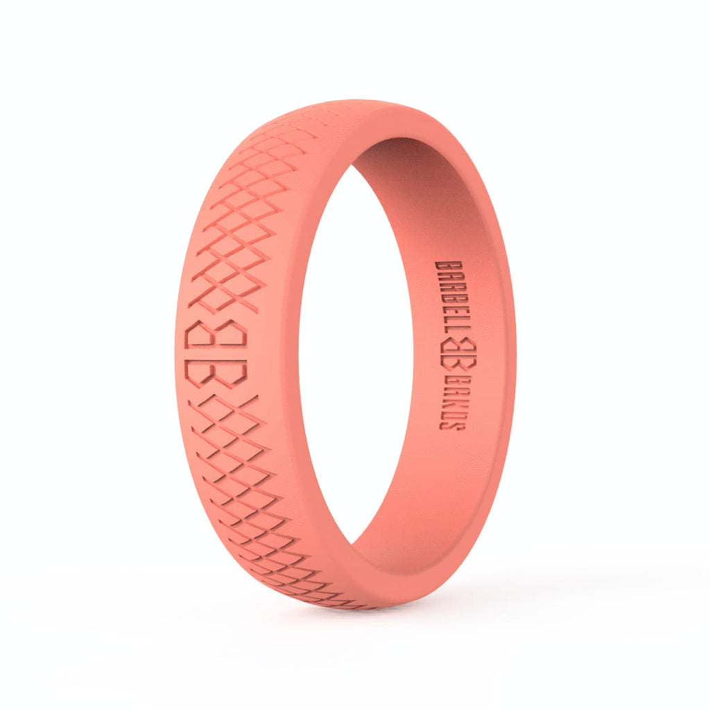 "Barbell Bands Women's ""Coral"" Silicone Ring - 9 for 9"