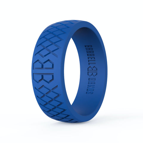 "Barbell Bands Men's ""American Blue"" Silicone Ring - 9 for 9"