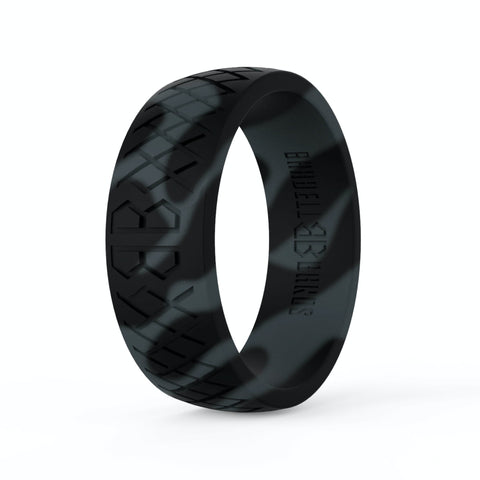 "Barbell Bands Men's ""Black Camo"" Silicone Ring - 9 for 9"