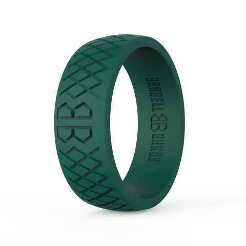 "Barbell Bands Men's ""Forest Green"" Silicone Ring - 9 for 9"