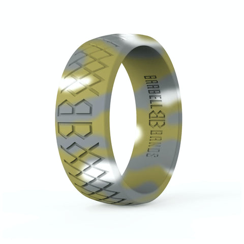 "Barbell Bands Men's ""Rainforest Camo"" Silicone Ring - 9 for 9"