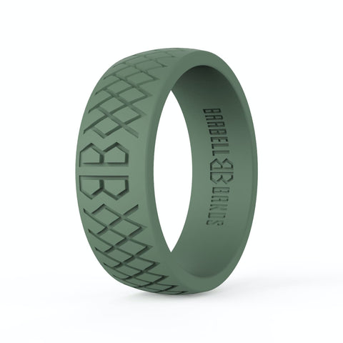 "Barbell Bands Men's ""Tactical Green"" Silicone Ring - 9 for 9"
