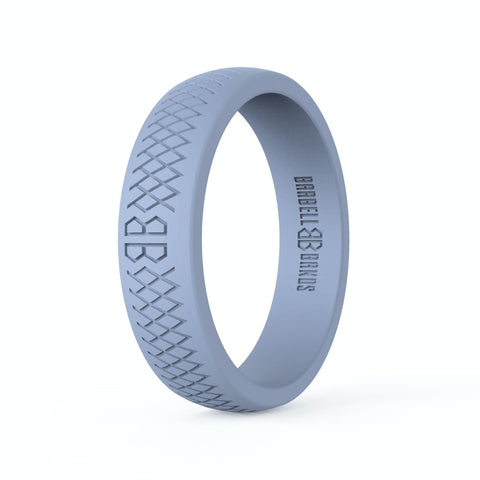 "Barbell Bands Women's ""Light Grey"" Silicone Ring - 9 for 9"