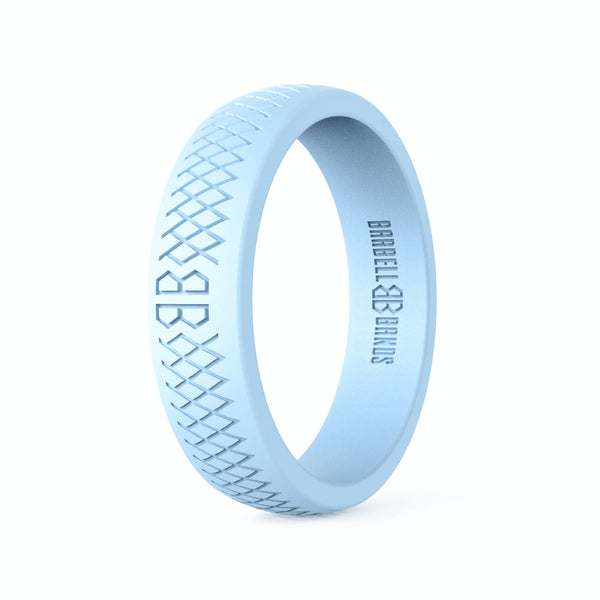 "Barbell Bands Women's ""Ice Blue"" Silicone Ring - 9 for 9"
