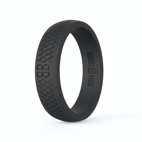 "Barbell Bands Women's ""Black"" Silicone Ring - 9 for 9"