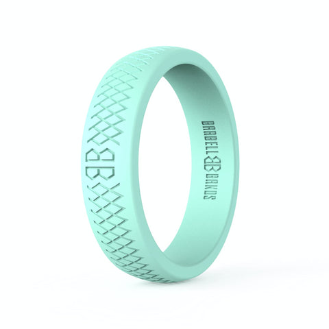 "Barbell Bands Women's ""Mint"" Silicone Ring - 9 for 9"