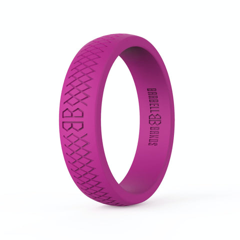 "Barbell Bands Women's ""Pink"" Silicone Ring - 9 for 9"