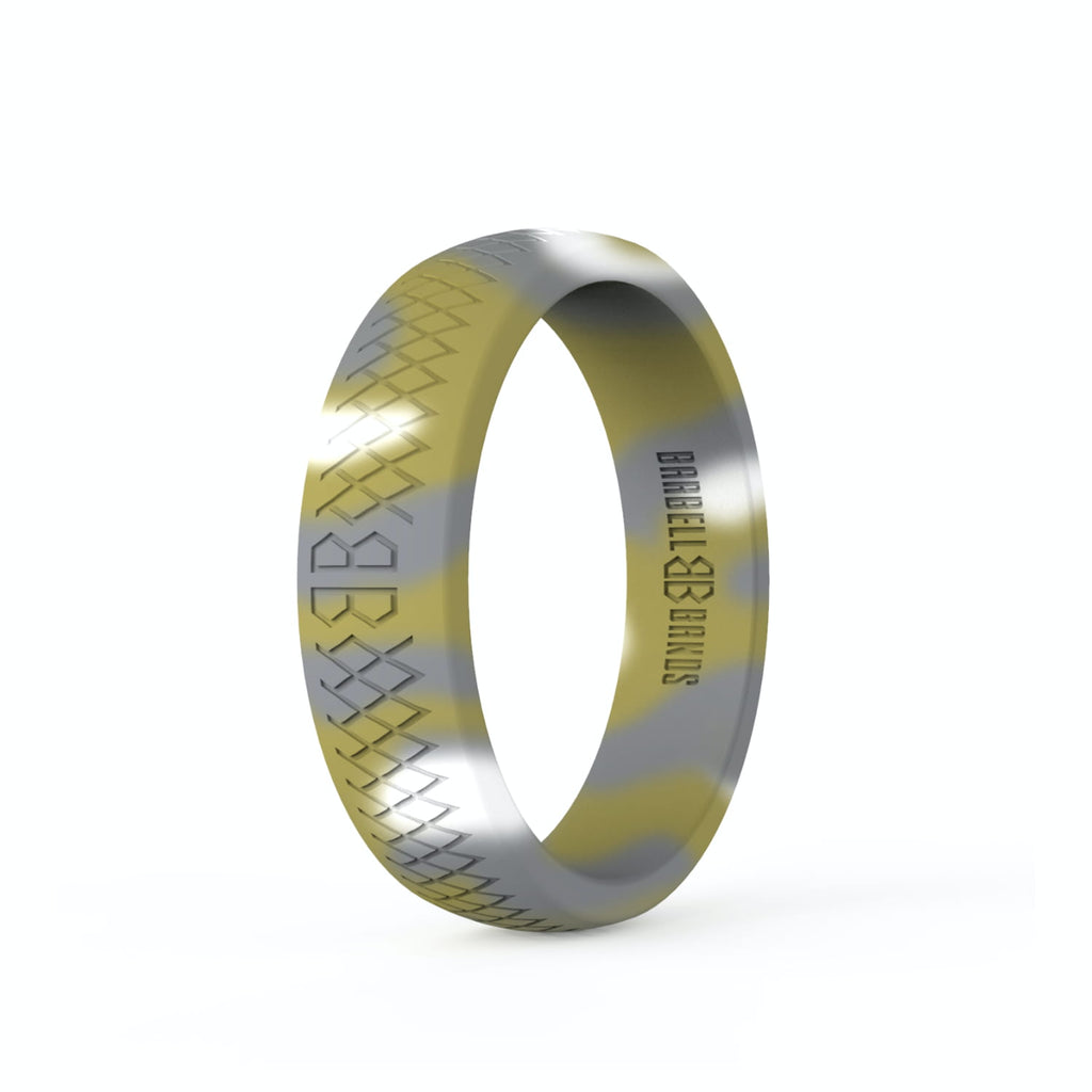 "Barbell Bands Women's ""Rainforest Camo"" Silicone Ring - 9 for 9"