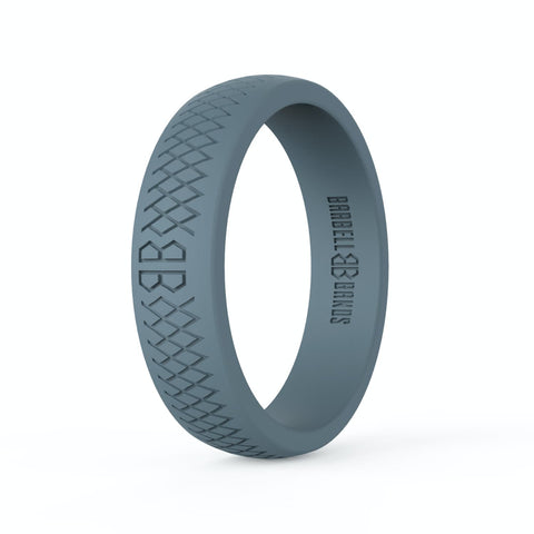 "Barbell Bands Women's ""Steel Grey"" Silicone Ring - 9 for 9"