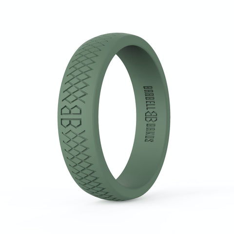 "Barbell Bands Women's ""Tactical Green"" Silicone Ring - 9 for 9"