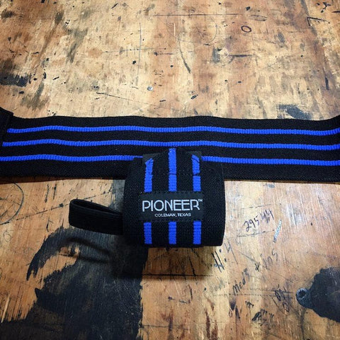 Pioneer Fitness Blue Line Crossfit Wrist Wraps - 9 for 9