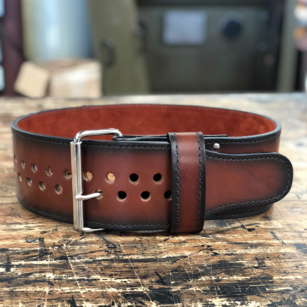 "Pioneer Cut™ – 8.5mm thick – 3"" wide – Custom Dyed Powerlifting Belt (Single Colour Leather & Suede)"