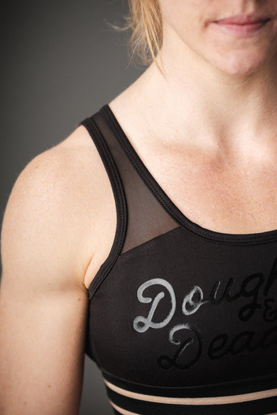 Doughnuts & Deadlifts PERFORM Backless Bra (Black)
