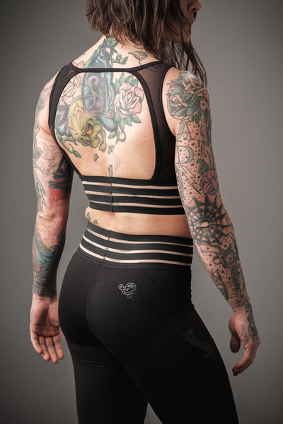 Doughnuts & Deadlifts PERFORM Backless Bra (Black) - 9 for 9