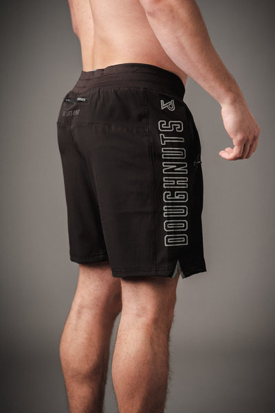 Doughnuts & Deadlifts PERFORM Lined Tech Shorts (Black) - 9 for 9