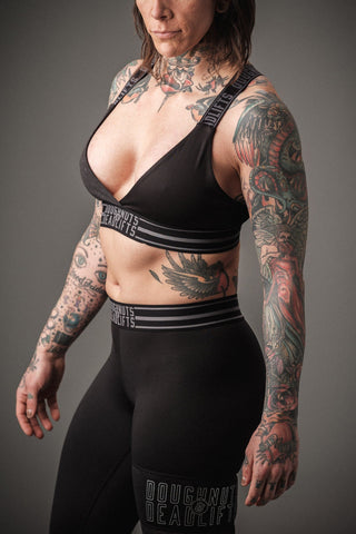 Doughnuts & Deadlifts PERFORM Triangle Bra (Black) - 9 for 9