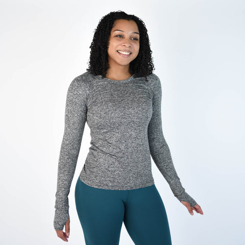 FLEO Foundation Long Sleeve - Heather Grey - PRE-ORDER - 9 for 9