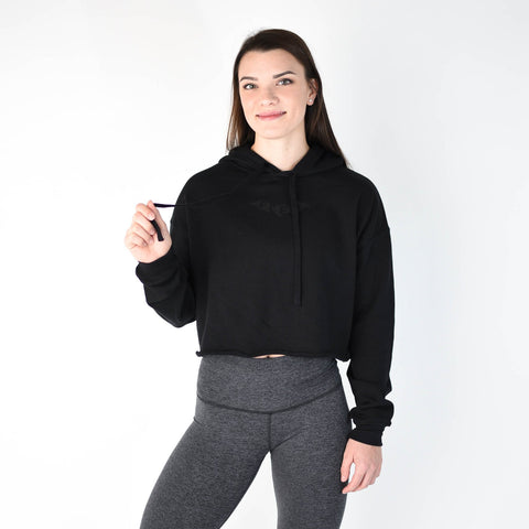 FLEO Bat Cropped Hoodie - Black - 9 for 9