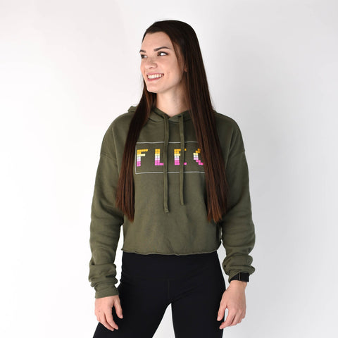FLEO Volume Cropped Hoodie - Burnt Olive - 9 for 9
