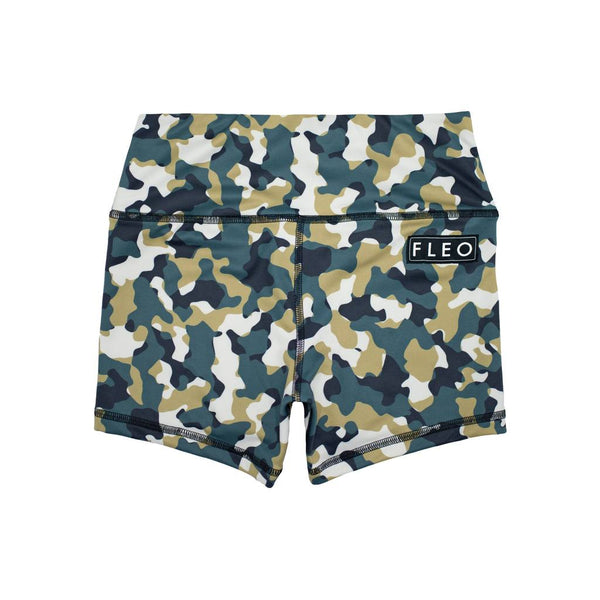 FLEO Army Camo Shorts (Power High-rise) - 9 for 9