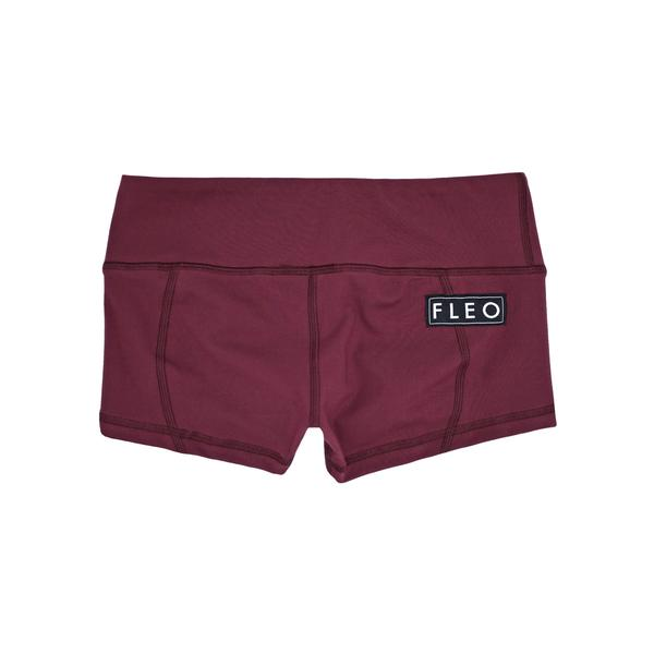 FLEO Burgundy Shorts (Low-rise Contour) - 9 for 9