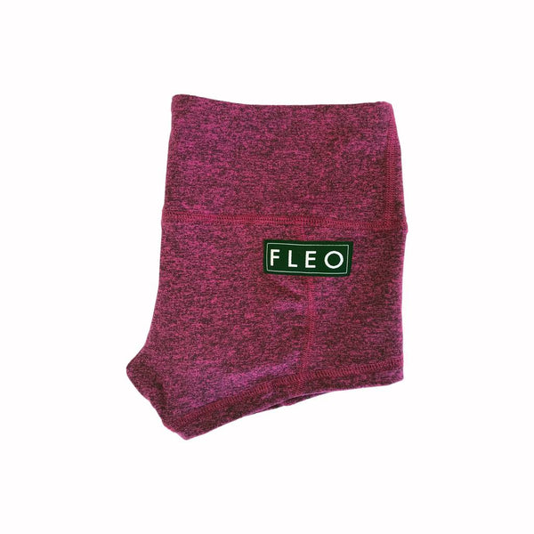 FLEO Dark Plum Heather Shorts (Low-rise Contour) - 9 for 9
