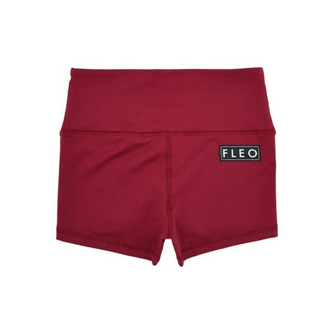 FLEO Deep Red Shorts (High-rise Original) - 9 for 9