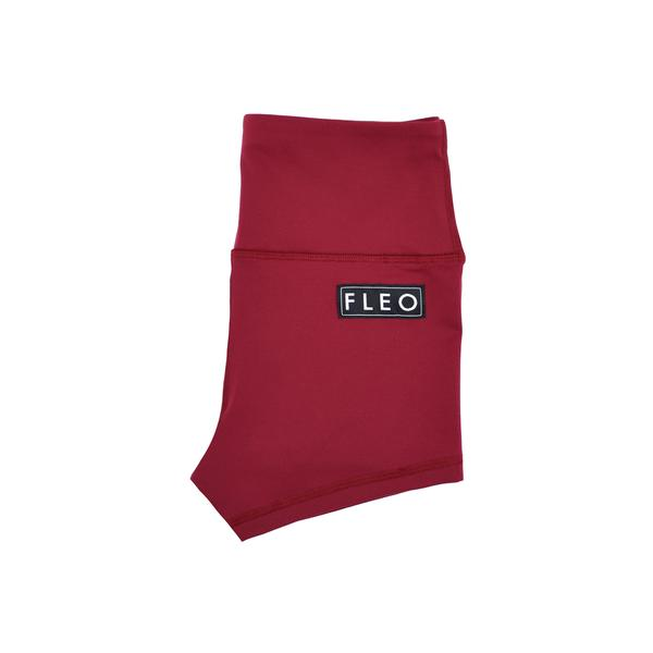 FLEO Deep Red Shorts (High-rise Original) - PRE-ORDER - 9 for 9