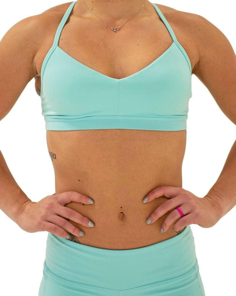 FLEO Reinette Sports Bra - Aqua Splash x Katie Crewe - 9 for 9