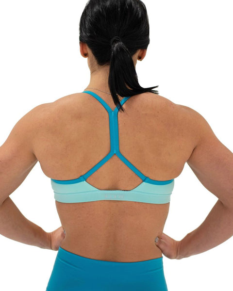 FLEO Reinette Sports Bra - Aqua Scuba x Katie Crewe - 9 for 9