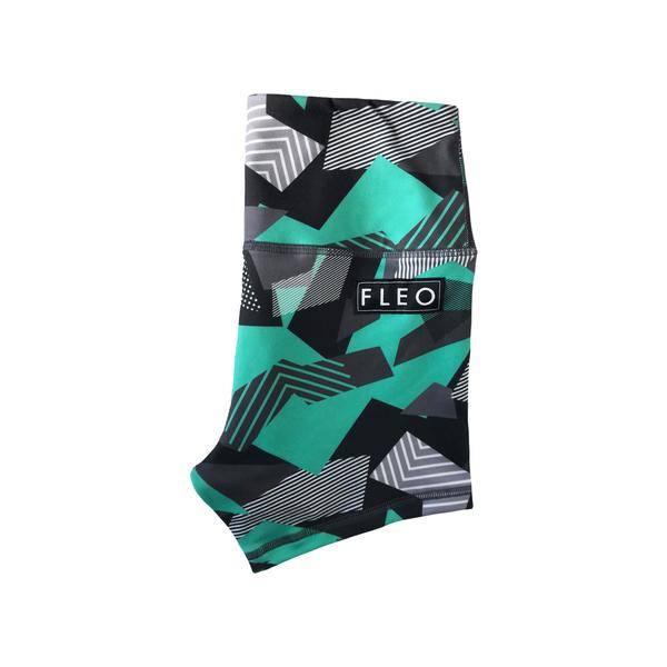 FLEO Steel Teal Power Shorts (Power High-rise) - 9 for 9
