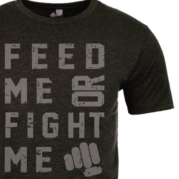 Feed Me Fight Me Men's Scrabble (Gunmetal) T-shirt
